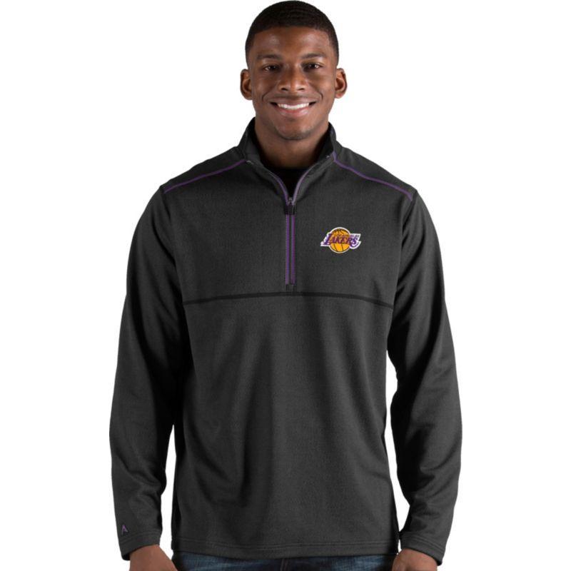 Antigua Men's Los Angeles Lakers Prodigy Quarter-Zip Pullover, Size: Medium, Team