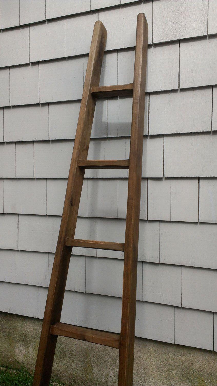 Orchard Ladder Handmade 60 5 Rungs 5 Ft Primitive Farmhouse Wood Display Ladder Rustic Vintage Quilt Ladder Towel Rack Blanket Rustic Vintage Decor Wood Ladder Alder Wood