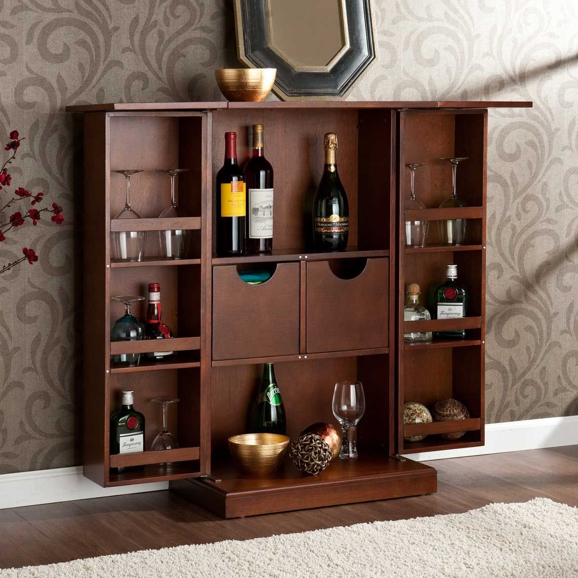 Image Of: Cool Nice Bar Cabinet Ideas