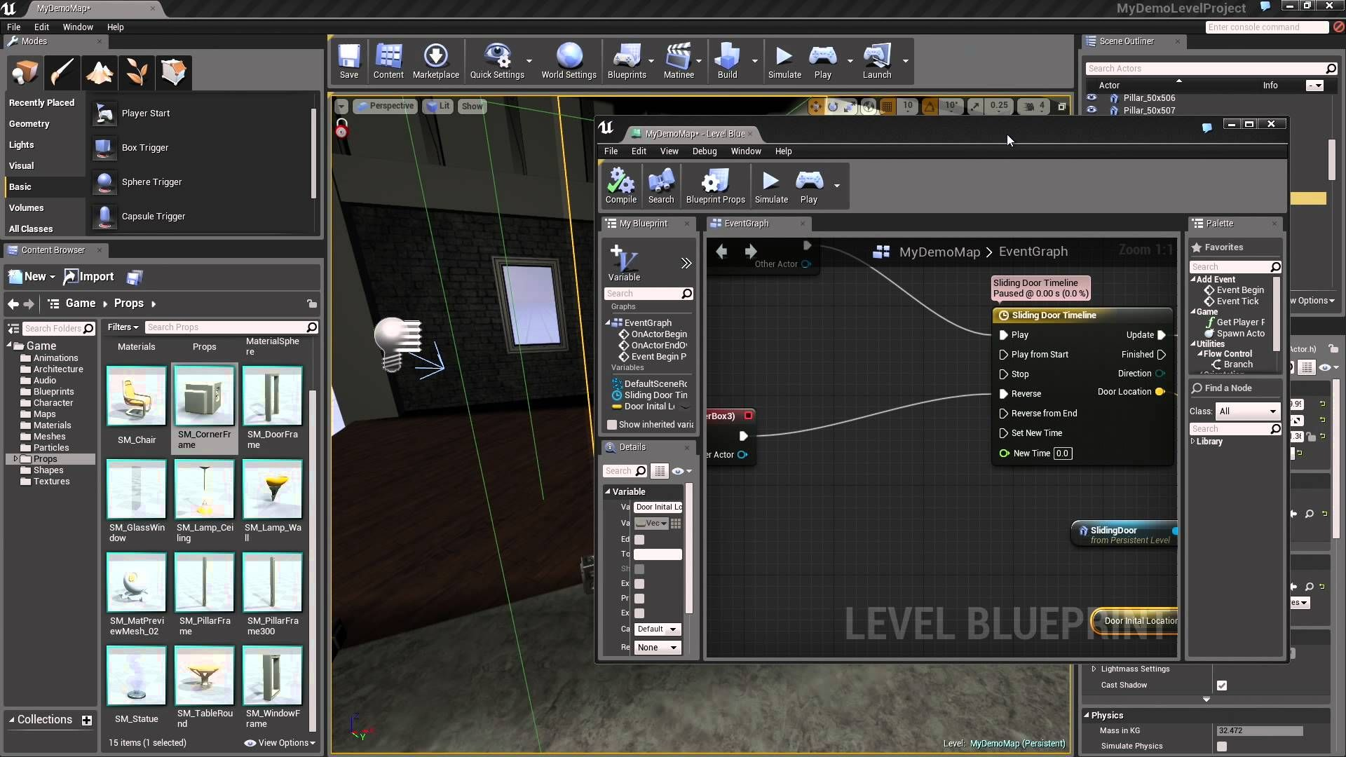 Part 2 in learning how to create an interactive sliding glass door part 2 in learning how to create an interactive sliding glass door using blueprints in ue4 malvernweather Choice Image