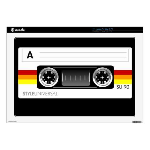 Cassette tape label laptop skin