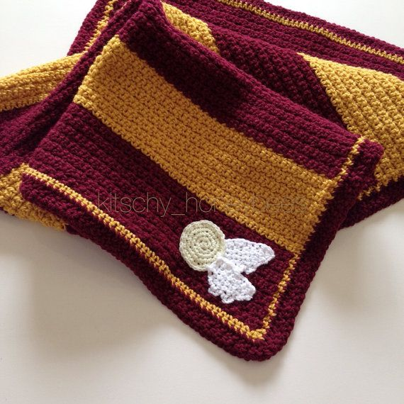 Crochet Harry Potter Baby Blanket Gryffindor By