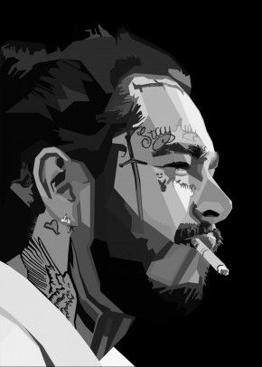 Post Malone WPAP Pop Art by NGUYEN DINH LONG | metal posters #postmalonewallpaper