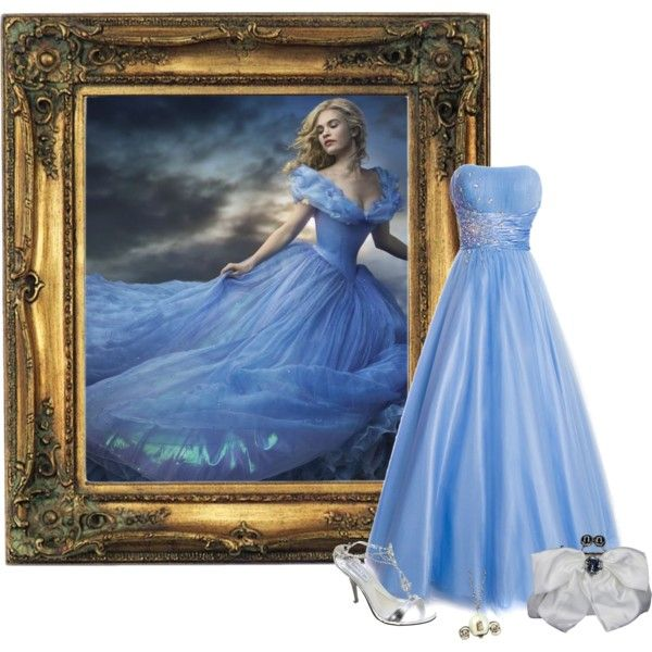 Dance DisneyBound – Cinderella (2015 Movie) by tarabooklover on Polyvore featuring polyvore, fashion, style, Touch Ups, Ann Creek and Disney