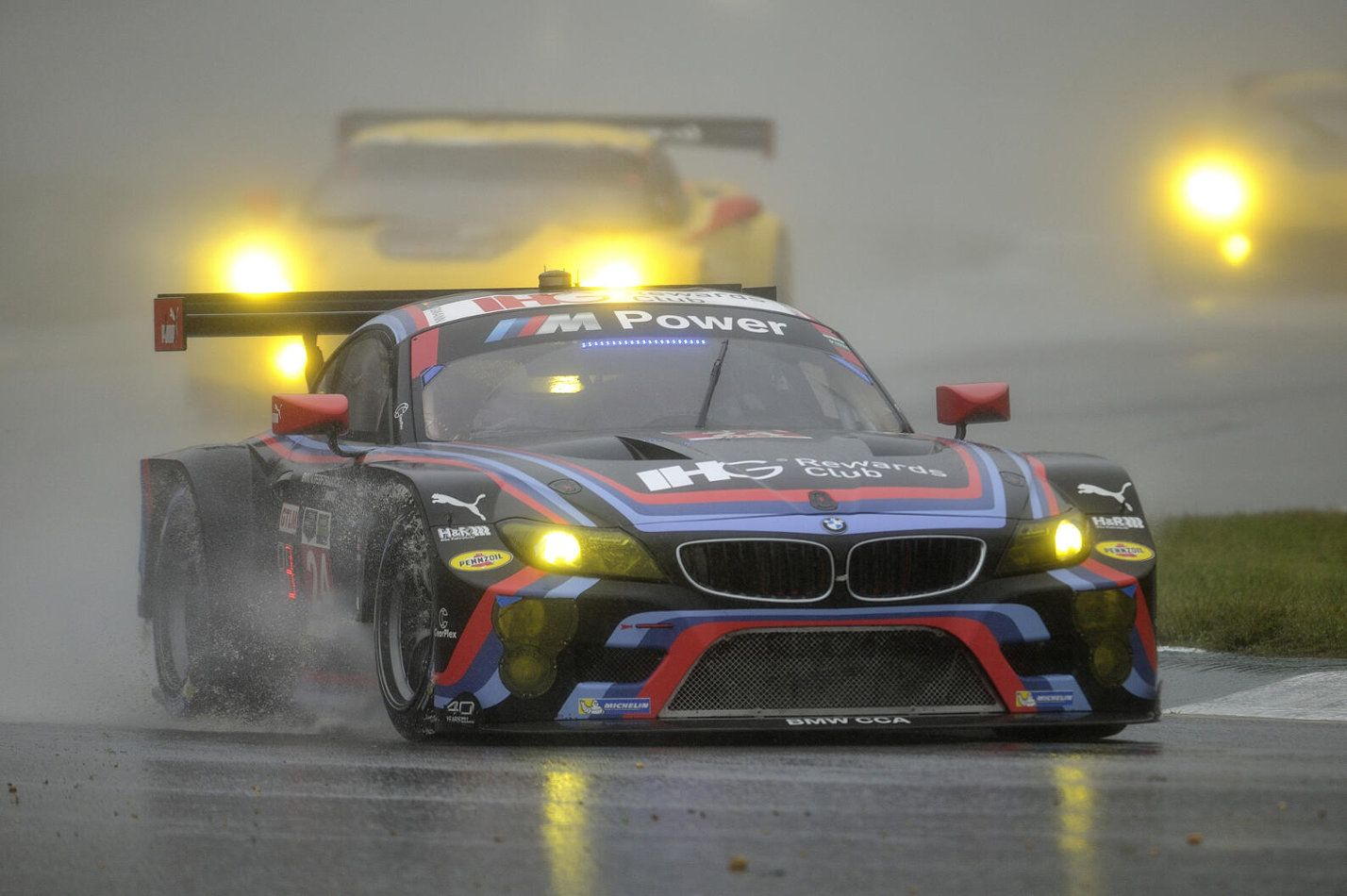A Rain Soaked American Farewell For The BMW GTLM Saw Petit Le Mans Stopped  Early Due To Bad Weather