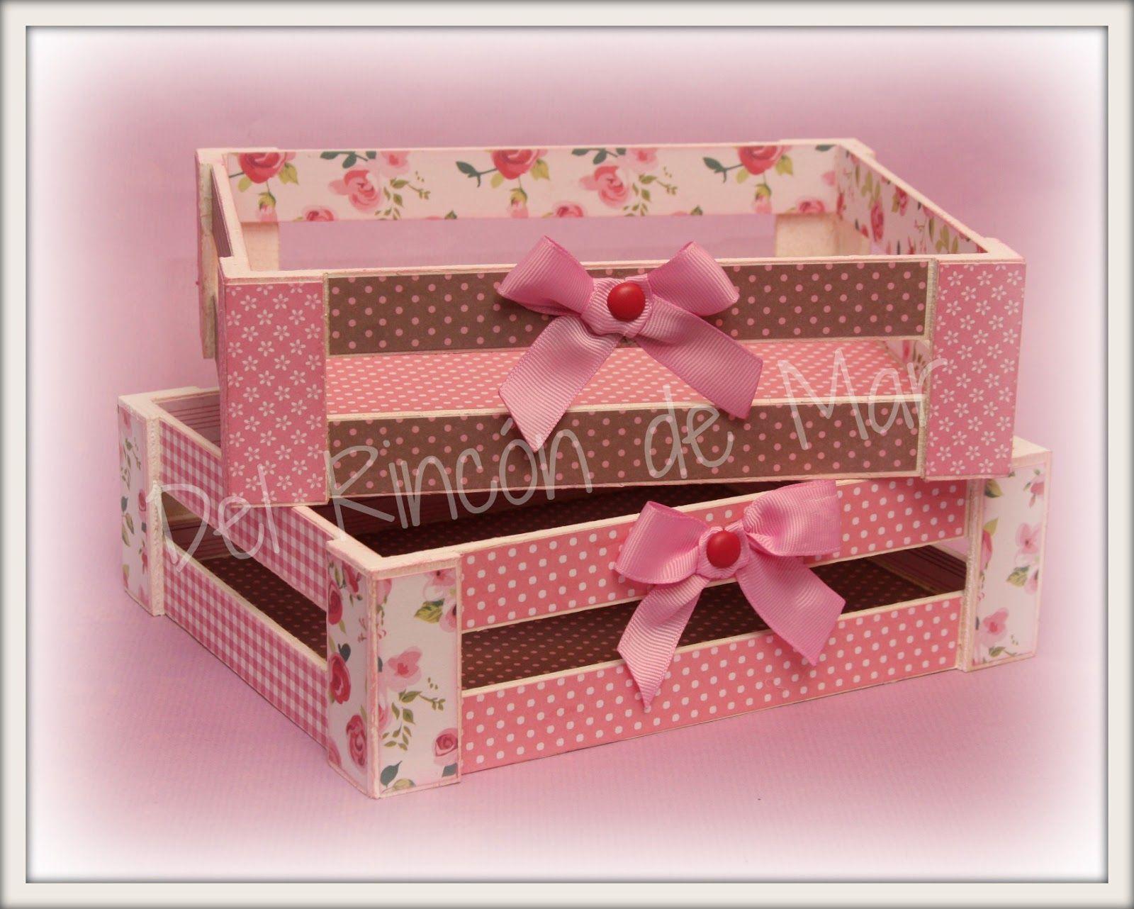 Cajas Y Cajones Boxes And Crates Decoración Organización Y Manualidades Cajas De Madera Cajas Decoradas Cajas Pintadas