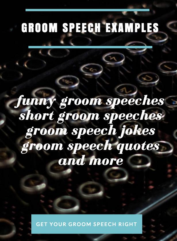 Help in writing a wedding speech groom