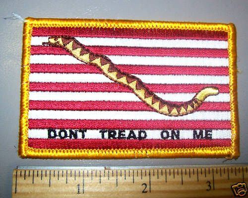 Dont Tread on Me Flag Iron on Embroidered Patch - Snake Don't Tread on Me #Embroidered
