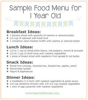 Do you ever wonder if your child is eating enough here  sample menu for one year old children also included typical day schedule month baby food chart indian meal plan rh pinterest