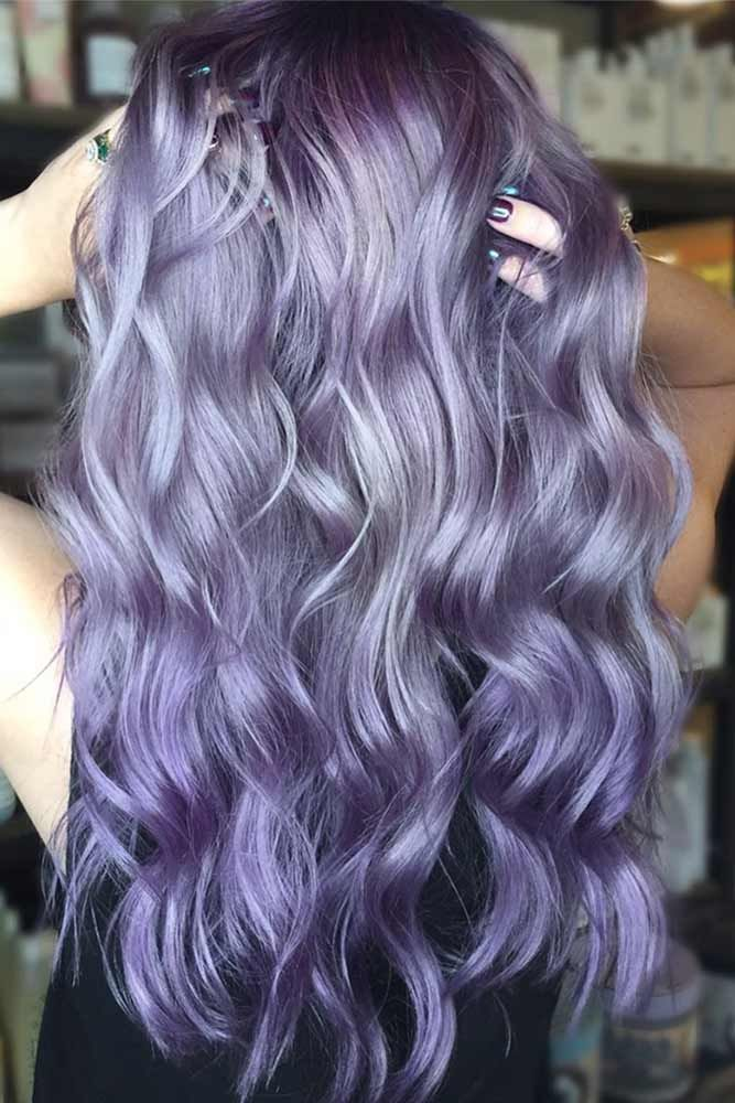 50 Cosmic Dark Purple Hair Hues For The New Image Cheveux
