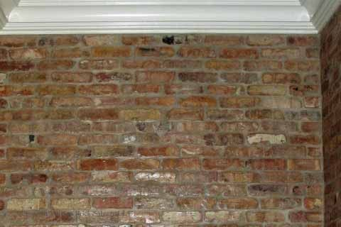 faux chicago brick wall tiles for kitchen back splashes | Thin Brick Tile Made from Real Antique Chicago Common brick