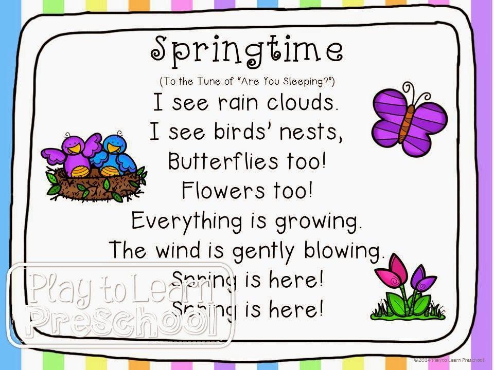 Spring Centers By Play To Learn Preschool Kindergarten