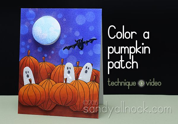 How To Color A Pumpkin Patch Sandy Allnock Art And Craft Videos Halloween Cards