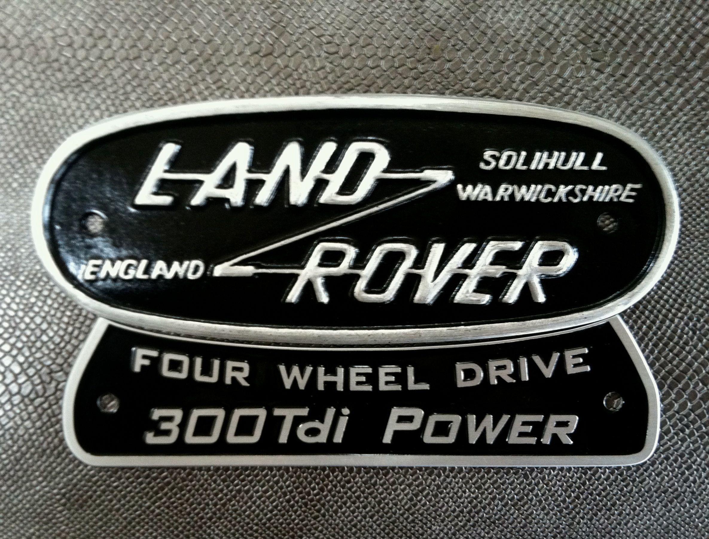 Vintage Land Rover rear badge found on ebay