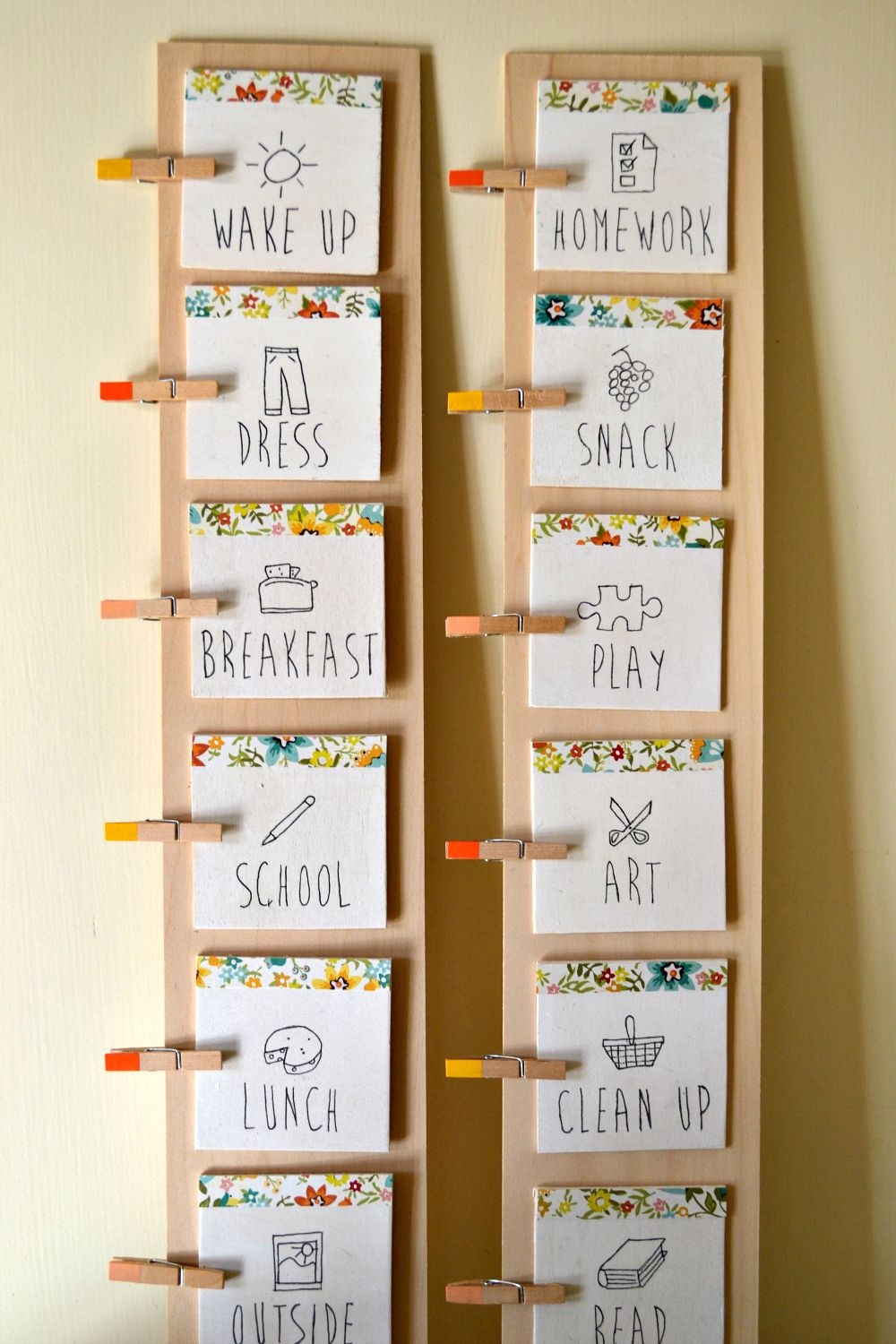 Routine cards cool for all of you who have children wonder if  can adapt it day care also diy daily chart kids group room ideas pinterest rh