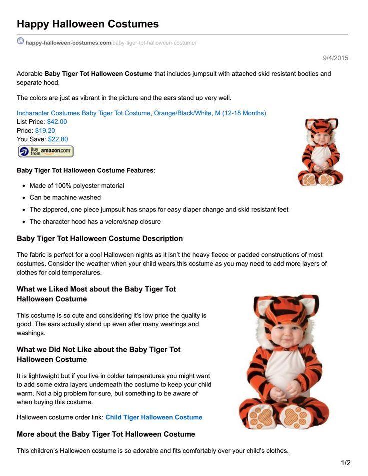 //.happy-halloween-costumes.com/ Adorable Baby  sc 1 st  Pinterest & http://www.happy-halloween-costumes.com/ Adorable Baby Tiger Tot ...