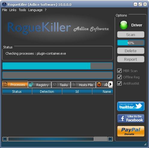 roguekiller o malwarebytes