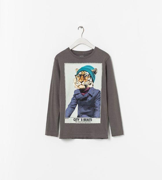 Image 1 de T-shirt avec dessin de Zara