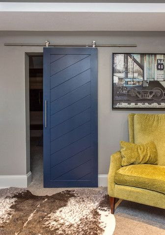 Diagonal Slatted Barn Door | Grafted | Barn door in house, Interior
