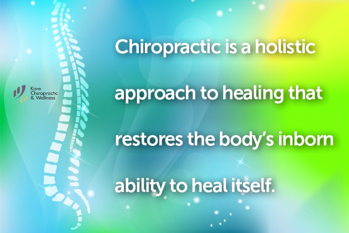 Chiropractic is a holistic approach to healing that restores the