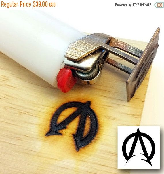 Custom branding iron bic lighter branding iron any by niquegeek branding iron tool this step by step tutorial of how to make a custom bic monogram branding tool is perfect for artists crafters and do it yourself solutioingenieria Images
