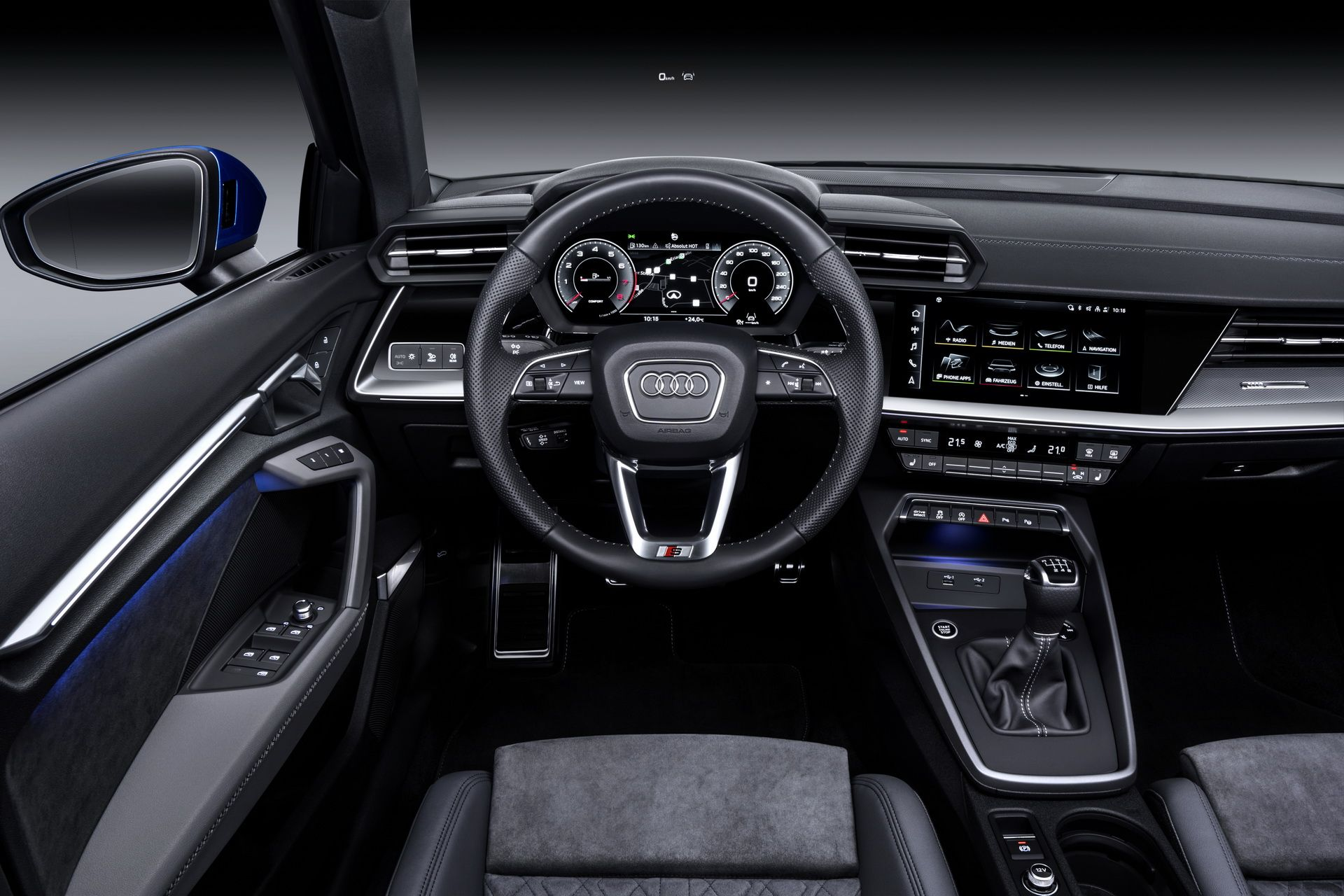 New Audi A3 Arrives With More Aggressive Styling And A Hint Of Lambo Dna Inside Carscoops Audi A3 Sportback Audi A3 Sportback 2020 Audi A3