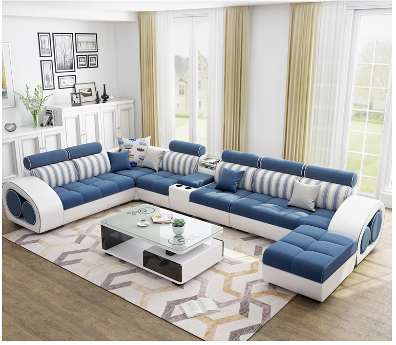 Source Customize New Design Fashion Leather And Cloth Combination Furniture Living Room Sofa On M Alibaba Com Oturma Odasi Dekorasyonu Oturma Odasi Evler