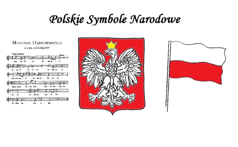 Symbole narodowe karty pracy | Symbole, Flaga, Alfabet polski