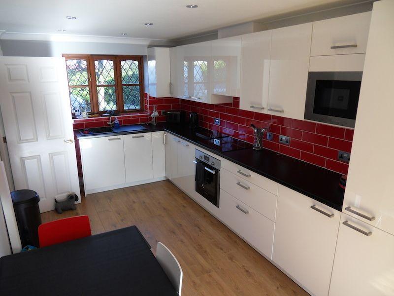 Kitchen White Interiorsred Black