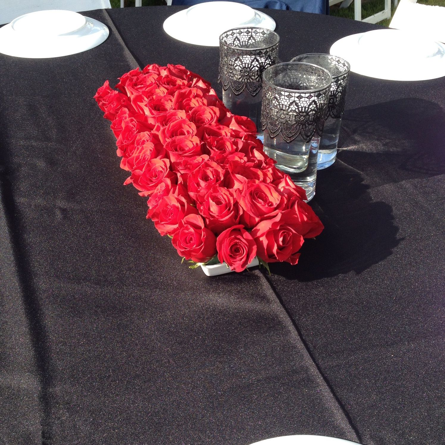 Rose centerpieces for my mom s th birthday party used