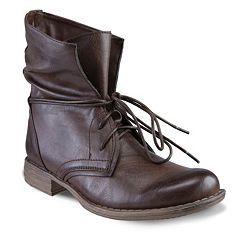 Skechers Mad Money Slouch Women Dark Brown Boots