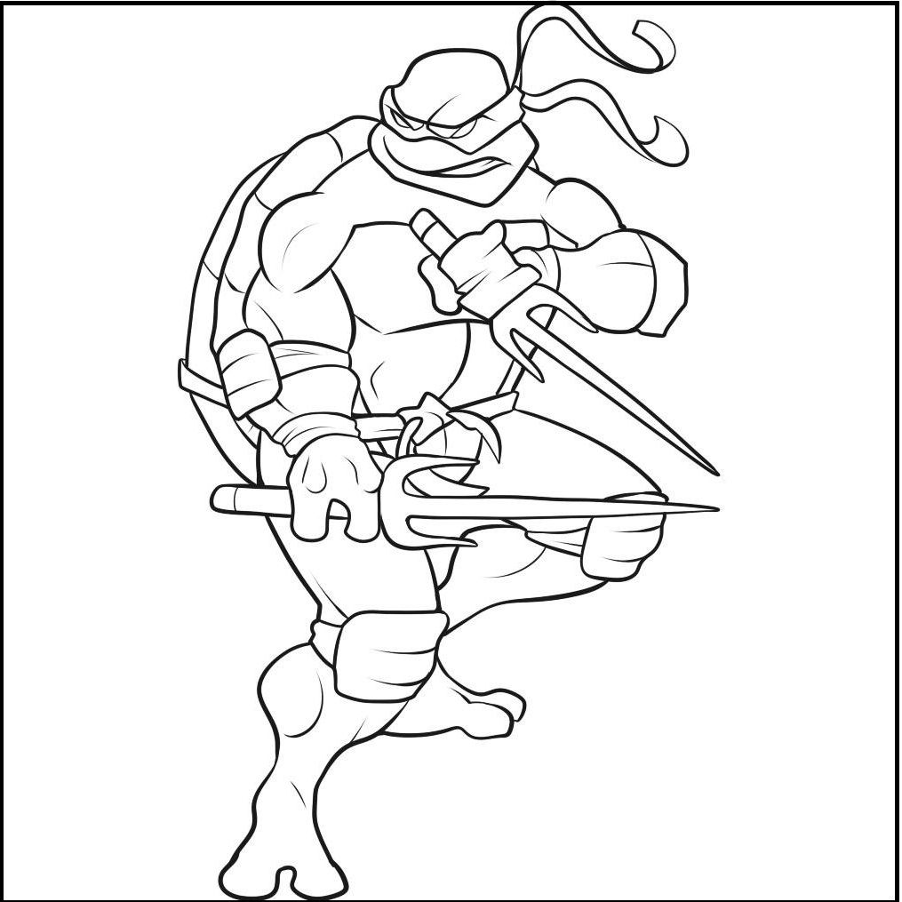 Style Raphael Ninja Turtle coloring picture for kids | Chase\'s ...