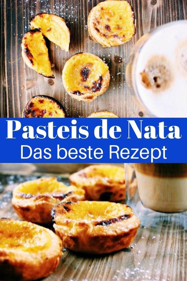 Pasteis de Nata Rezept: Puddingtörtchen aus Portugal #portugal