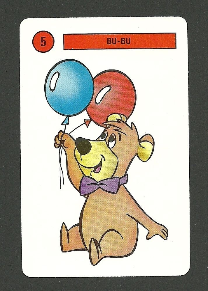 Yogi Bear Boo Boo 1991 Hanna Barbera Cartoon Card from Spain A Balloons   eBay