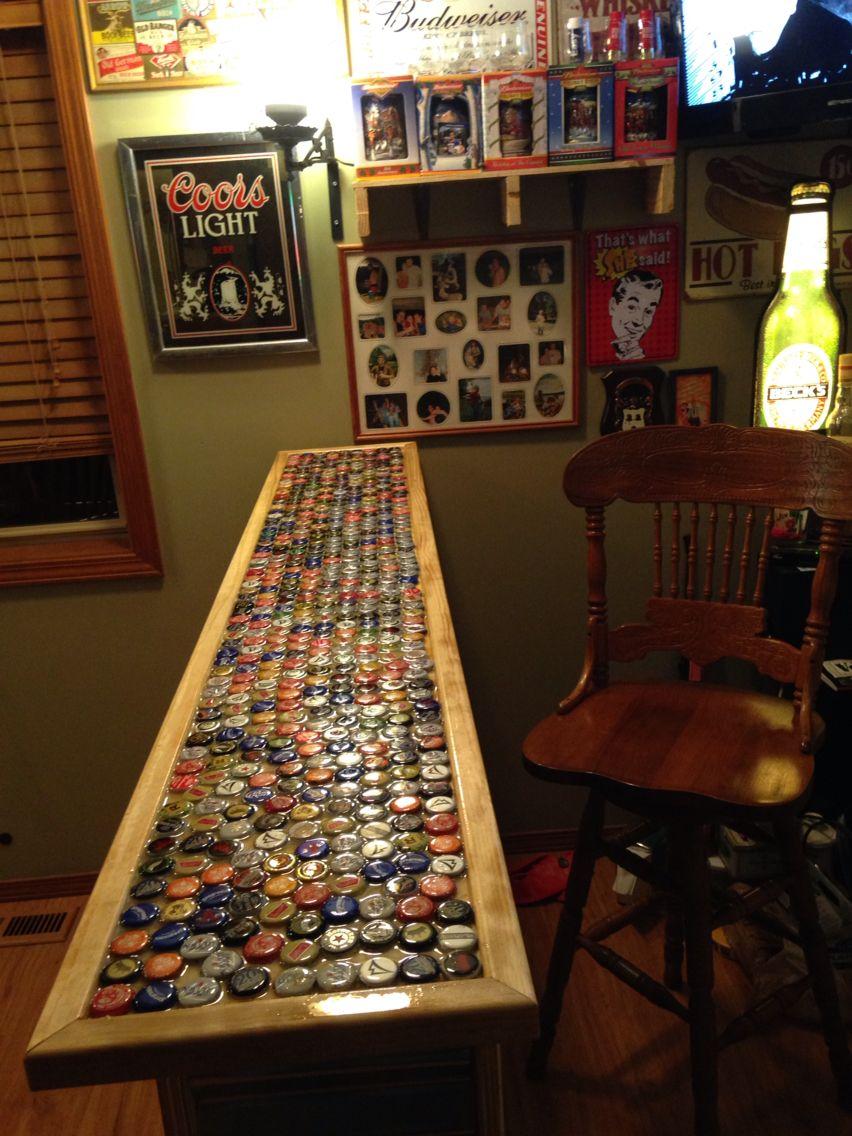 Beau Beer Bottle Cap Bar Top