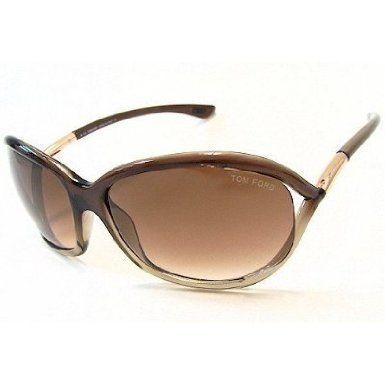 98052dbe5ab Tom Ford Jennifer FT0008 Sunglasses - 38F Transparent Brown (Gradient Brown  Lens) - 61mm You Save  42%