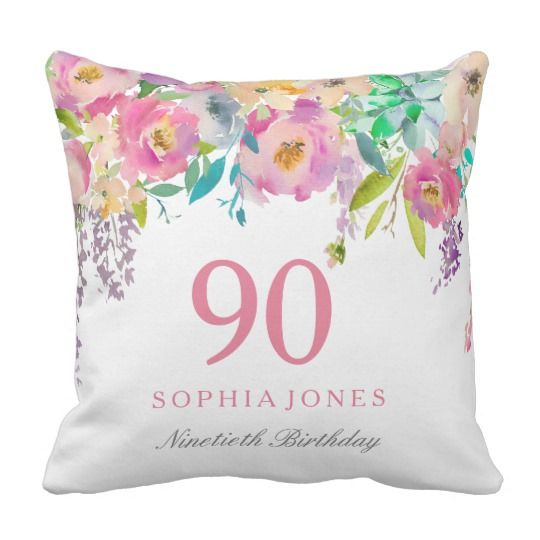 9bb976cde01 90th Birthday Gift Ideas - Beautiful personalized pillow is a lovely  birthday gift for Mom or any woman who is turning 90! Looks great as a throw  pillow on ...