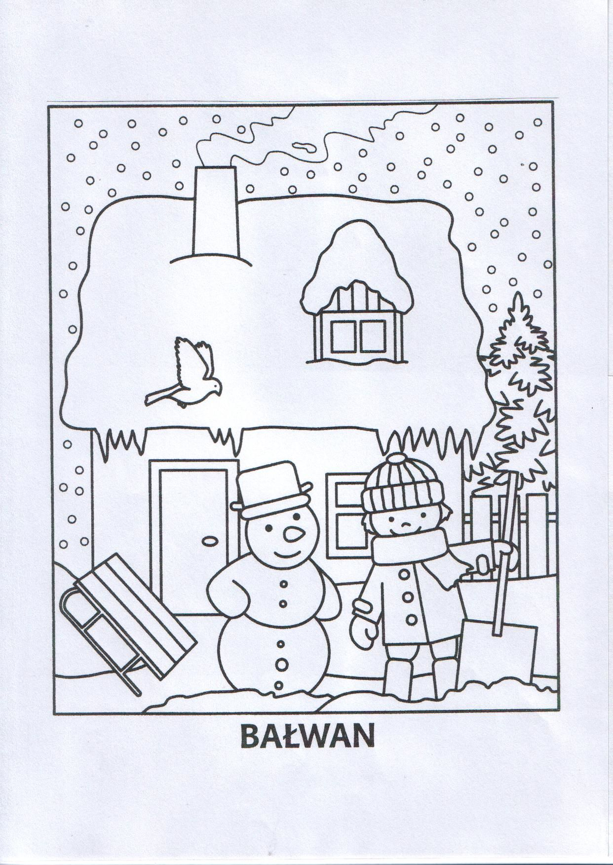 Zimowa Kolorowanka Jpg 1242 1752 Coloring Pages For Kids Coloring Pages Christmas Coloring Pages