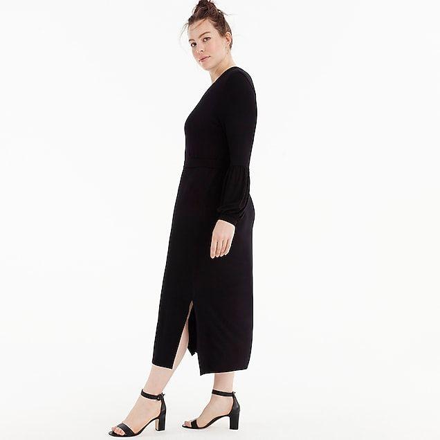 d163160303 women's universal standard for j.crew jersey long-sleeve maxi dress -  women's dresses