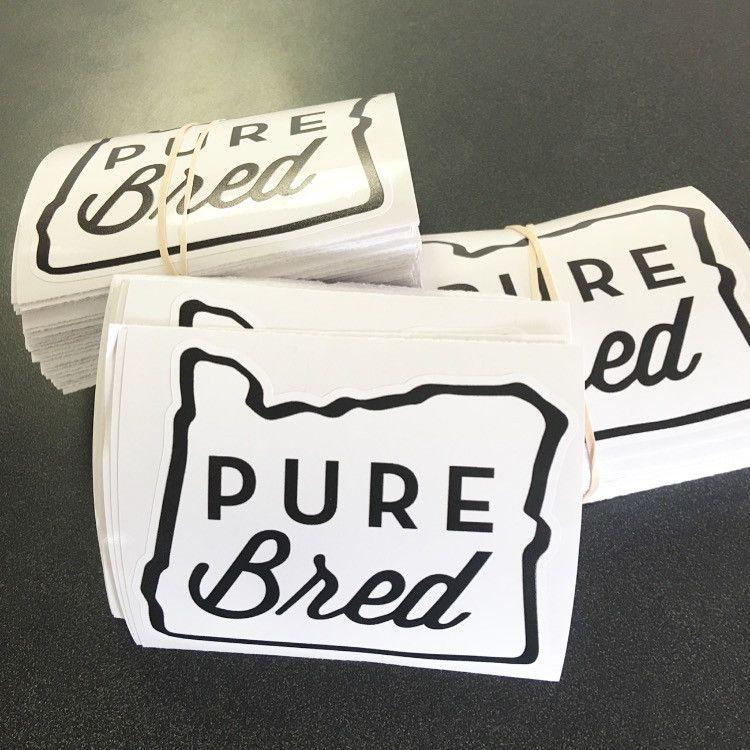 Purebred oregon vinyl sticker