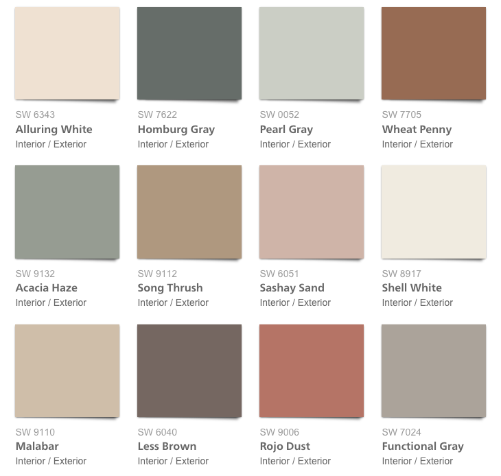 Color Forecast 2018 Affinity from Sherwin-Williams | Color pallets ...