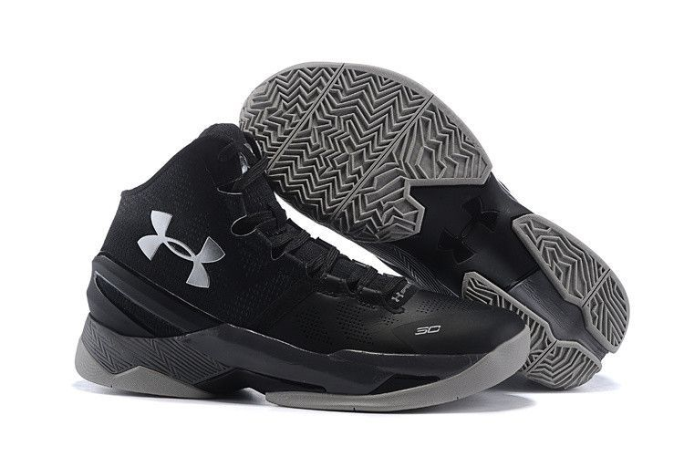 095de735bf3 Men s Under Armour Stephen Curry 2 The Professional Black Silver Basketball  Shoes