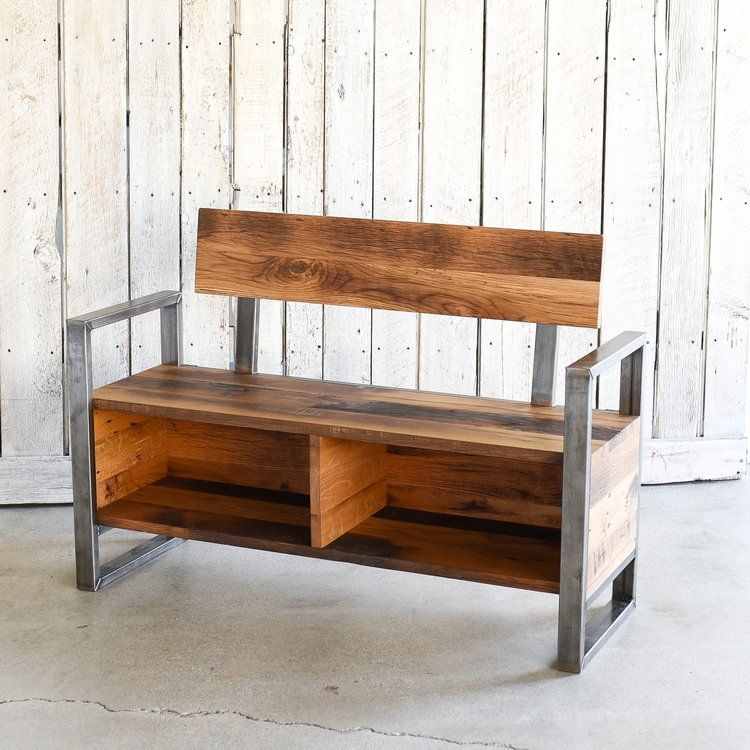Reclaimed Wood Entryway Storage Bench What We Make Wood Storage Bench Entryway Bench Storage Storage Bench