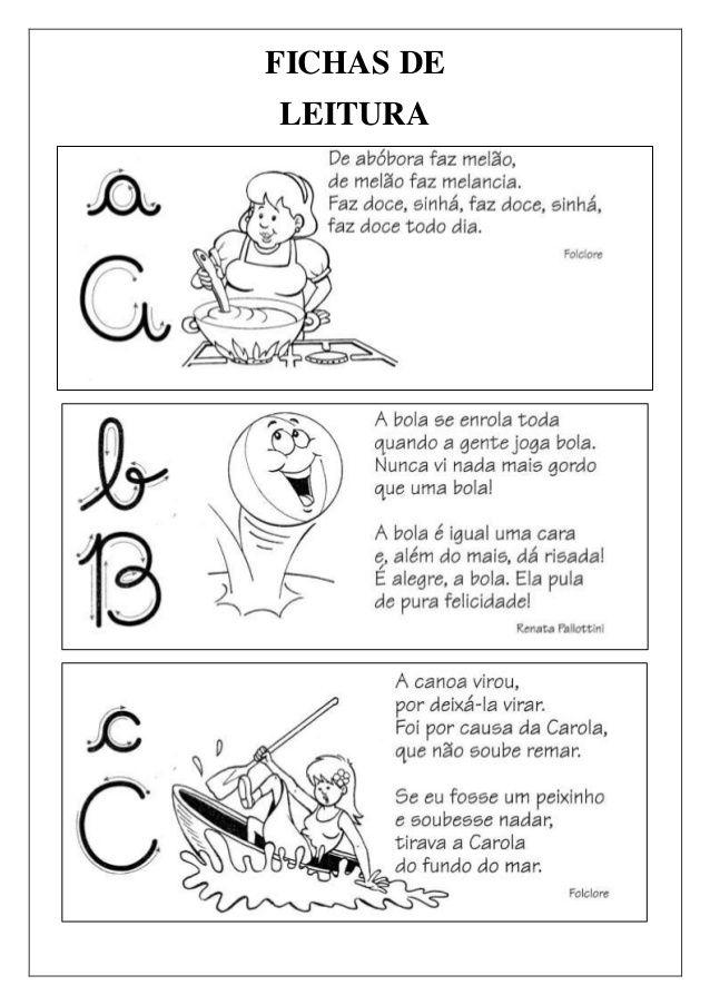 Fichas De Leitura De A A Z Atividades Education Homeschool E
