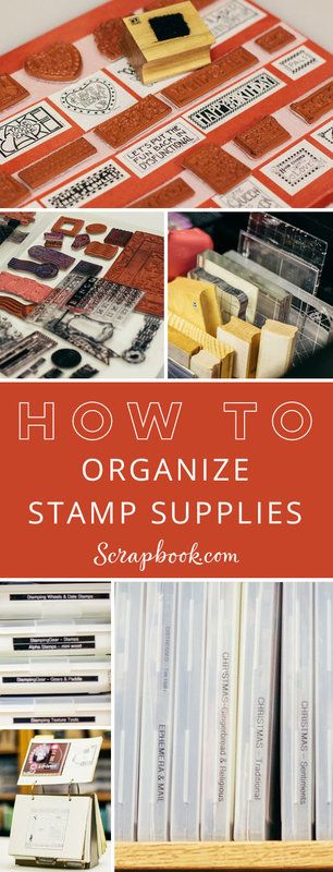 Get lots of tips and tricks for organizing your stamping supplies at Scrapbook.com.