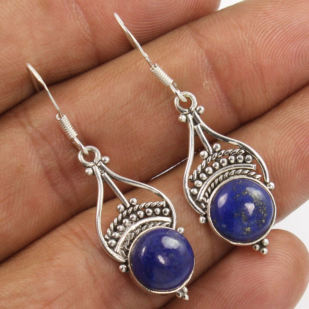 925 Sterling Silver Natural Gemstone DANGLE Earrings Engagement Jewelry NEW