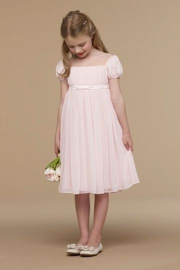 Pale Pink Cap Sleeve Shirred Empire With Hand Beaded Trim