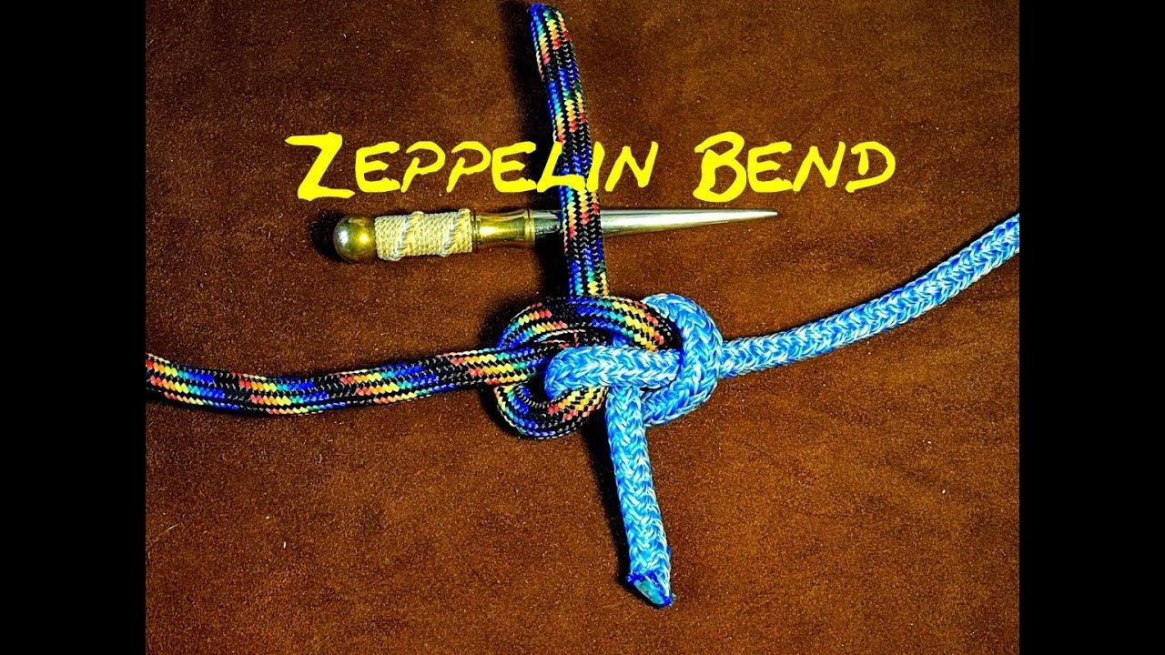 Zeppelin Bend Knot Securely Joining Two Ropes Arborist