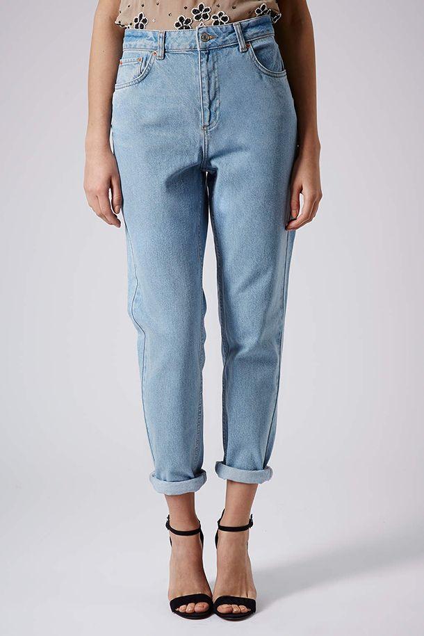 496223db104 Женские джинсы-бананы (87 фото)  с чем носить