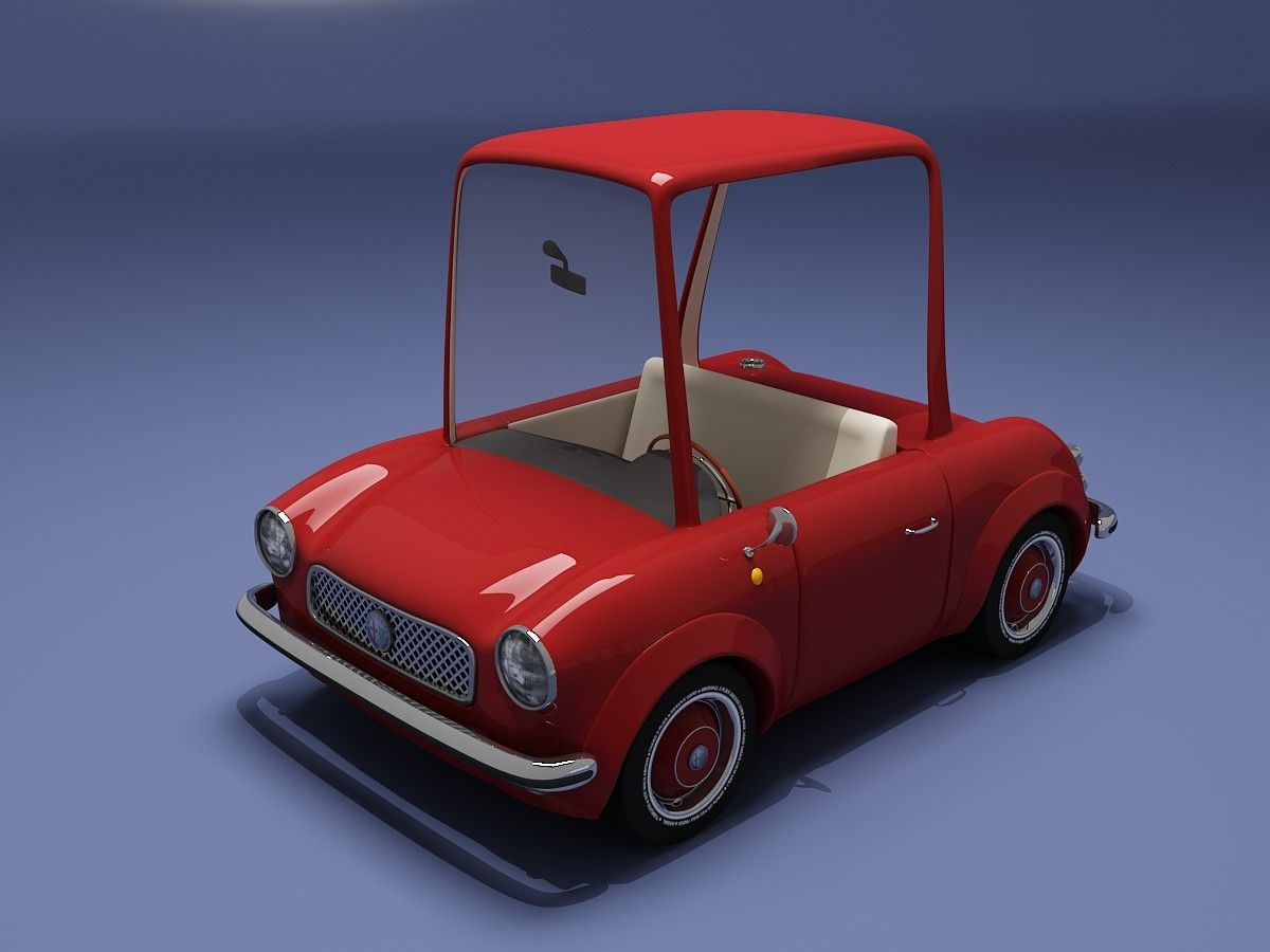 red cartoon car 3d model | Cars [3D Cartoon] | Car 3d model, Car